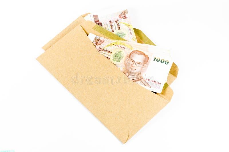 Download Sterta Tajlandzki Banknot Na Brązie Rozwija Zdjęcie Stock - Obraz złożonej z budżet, pieniężny: 53787604