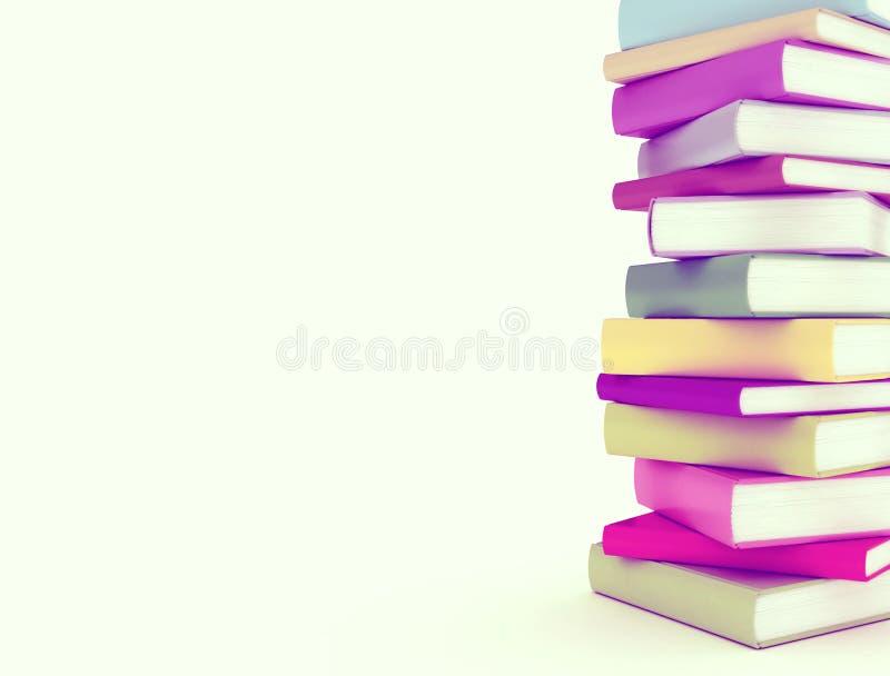 Sterta wielo- kolor książki royalty ilustracja