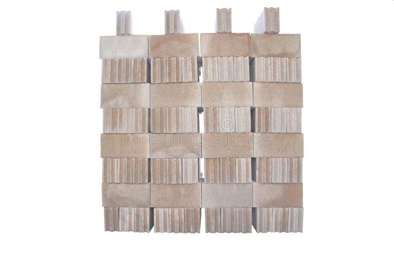 Sterty betonowi bloki odizolowywający na białym tle zdjęcie stock