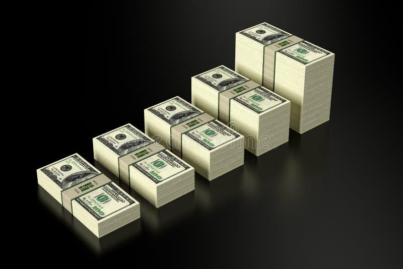 Sterty 100 Dolarowych banknotów royalty ilustracja