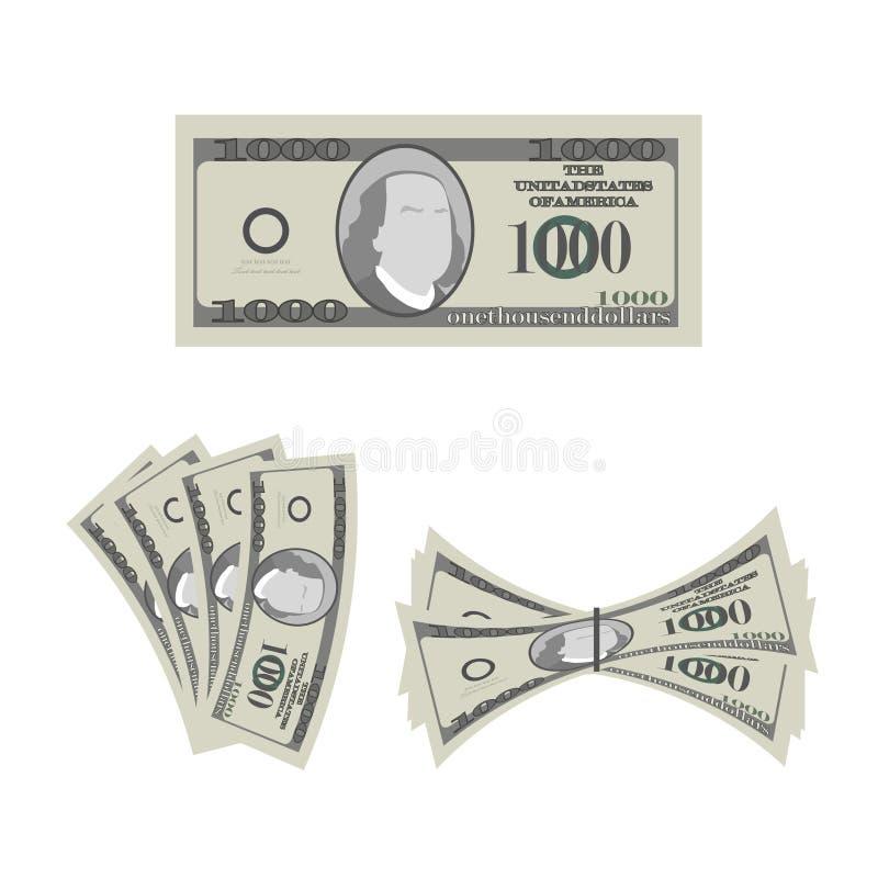 Sterty pieniądze Wiele Amerykańscy dolary ilustracji