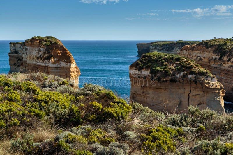 Sterty przy Dwanaście apostołami, Portowy Campbell, Wiktoria, Australia fotografia royalty free