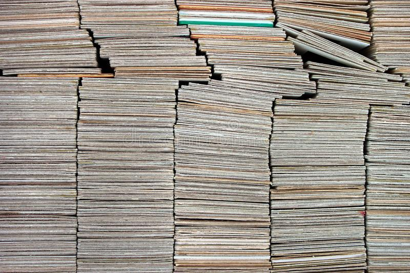 Sterty starzy papierowi diapozytywów obruszenia obraz stock