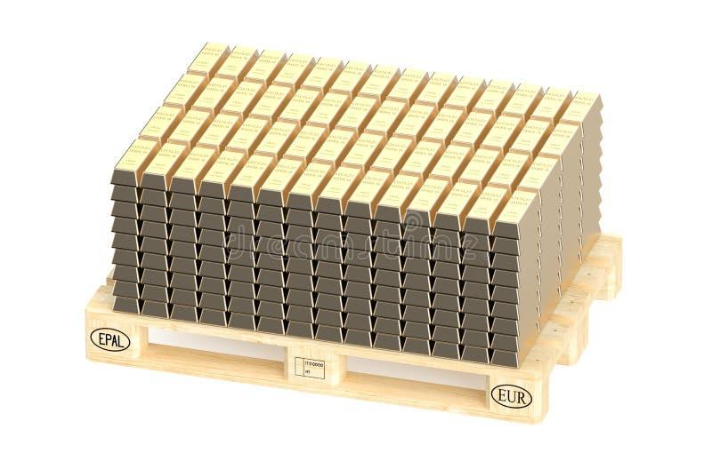 Sterty złociści bary na barłogu ilustracja wektor