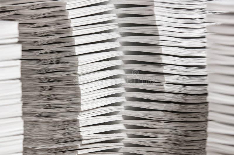 Sterty Zestawiający papier zdjęcia stock