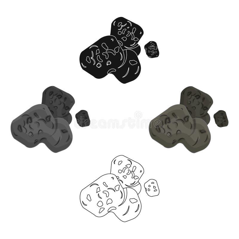Stervormig pictogram in beeldverhaal, zwarte stijl die op witte achtergrond wordt ge?soleerd De voorraad vectorillustratie van he royalty-vrije illustratie