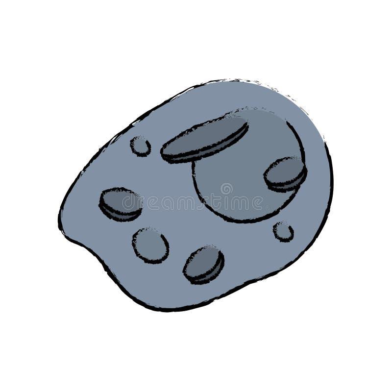 stervormig ruimtegevaarsbeeld stock illustratie