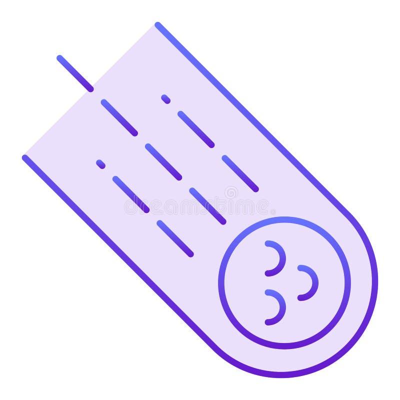 Stervormig vlak pictogram Meteoriet violette pictogrammen in in vlakke stijl De stijlontwerp van de komeetgradiënt, voor Web dat  vector illustratie