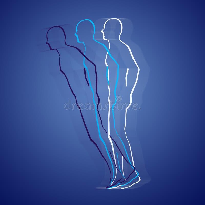 Stervormige lichaamsprojectie royalty-vrije illustratie