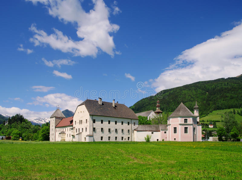 Sterzing abbey. In Alps, Italy royalty free stock image