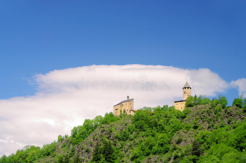 Sterzing castle Sprechenstein. Sterzing in South Tyrol, castle Sprechenstein stock photos