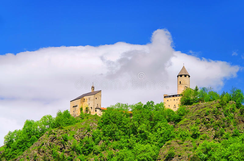 Sterzing castle Sprechenstein. Sterzing in Italy, castle Sprechenstein royalty free stock images