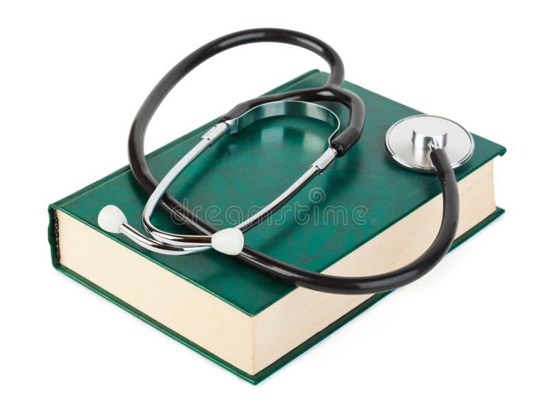 Stethoscoop en boek royalty-vrije stock foto's