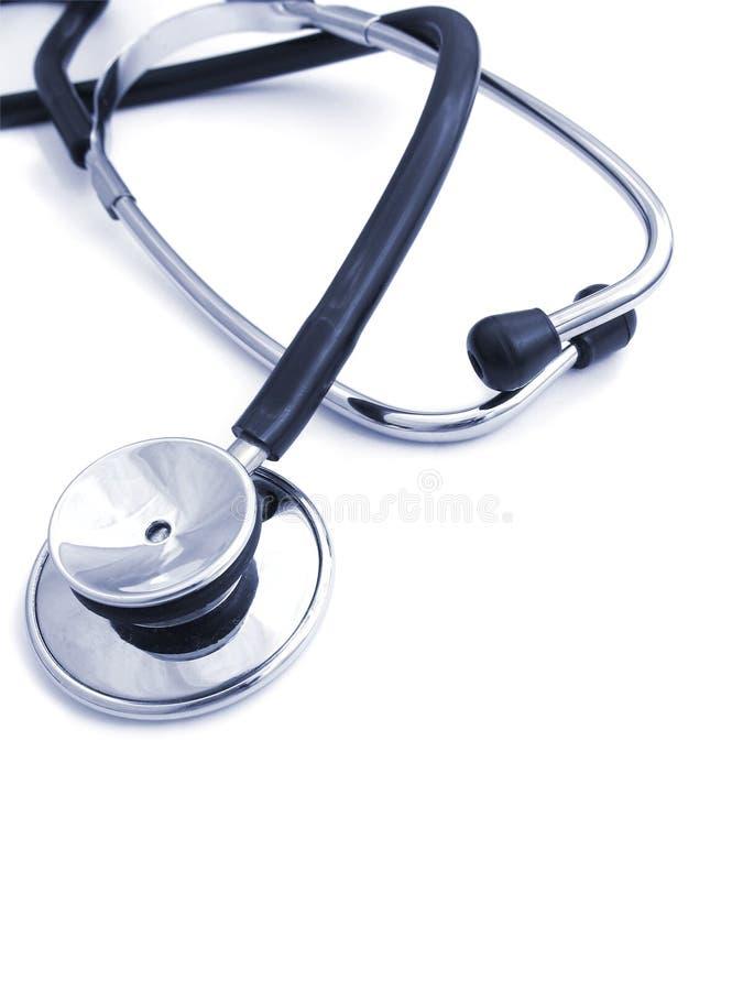 Stethoscoop op wit - 3 royalty-vrije stock foto
