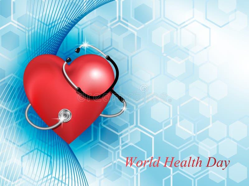 Stethoscoopmedische apparatuur en de hartvorm vector illustratie