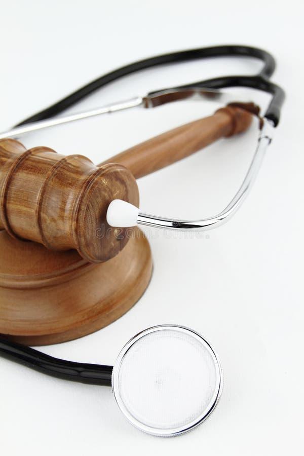 Stethoscope. Judge�s Gavel and stethoscope stock photo