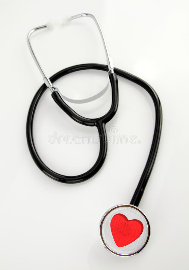 Stethoscope. With heart shape design royalty free stock photography