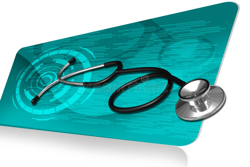 Download Stethoscope stock illustration. Image of instrument, heart - 26159047