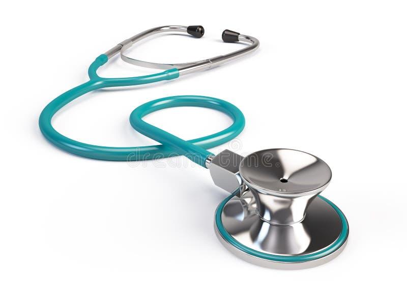 Stethoscope. On white background - 3d render stock illustration