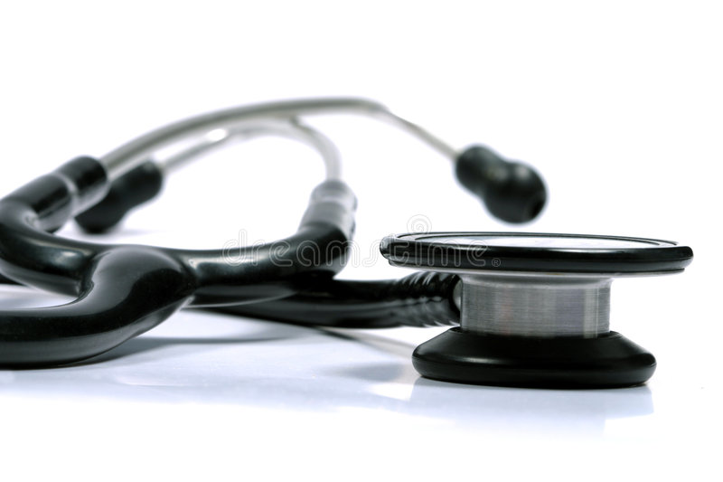 Stethoscope. Picture suitable to illustrate medical topics royalty free stock image