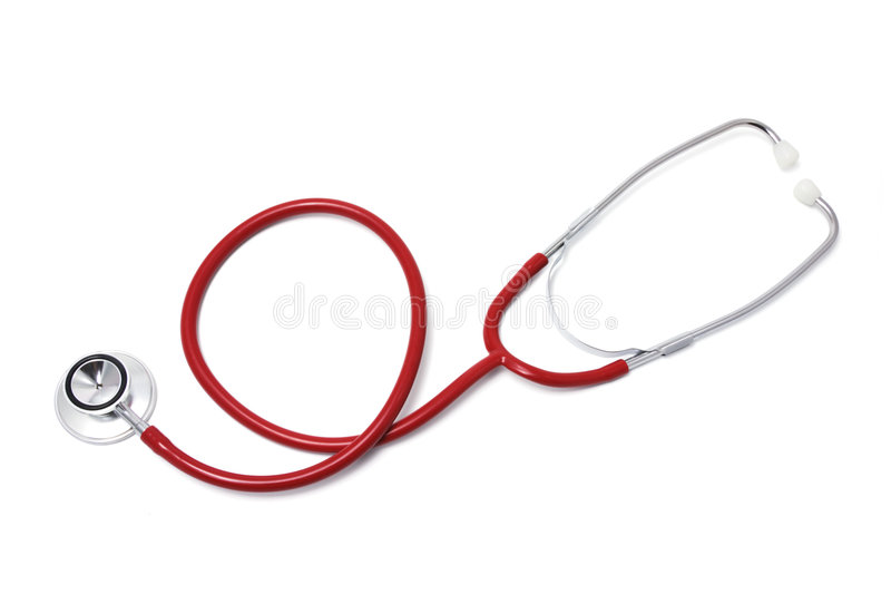 Stethoscope. On Isolated White Background stock images
