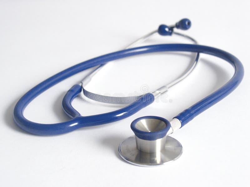 Stethoscope. Blue stethoscope royalty free stock photography