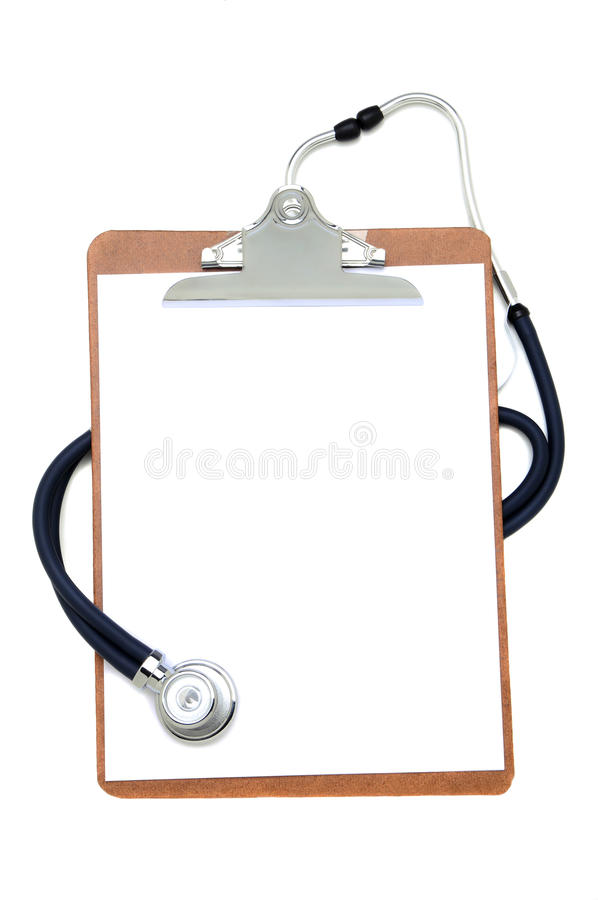 Stethoscope and Clip Board stock photography