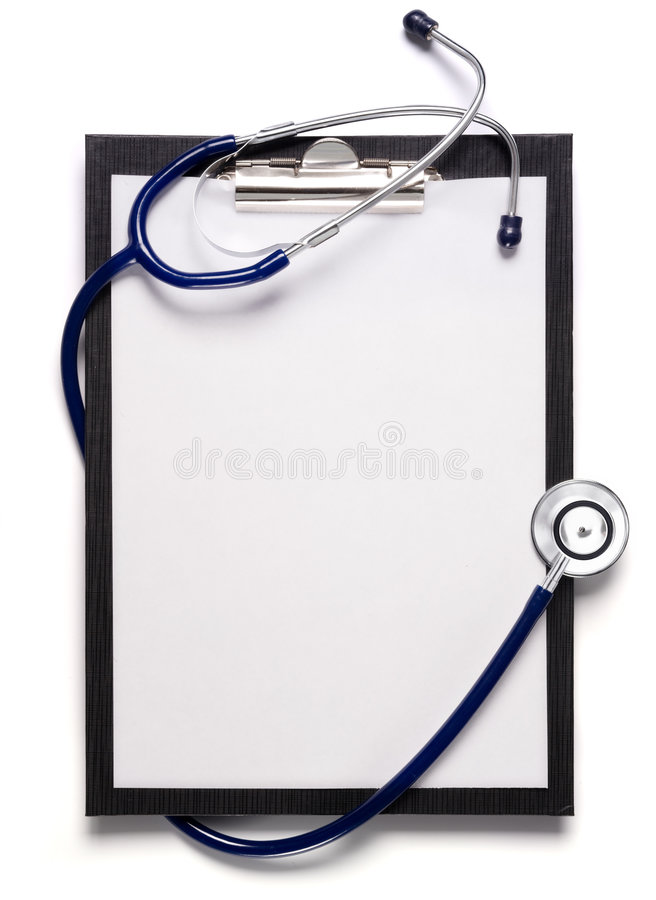 Download Stethoscope and clipboard stock photo. Image of healthcare - 6903242