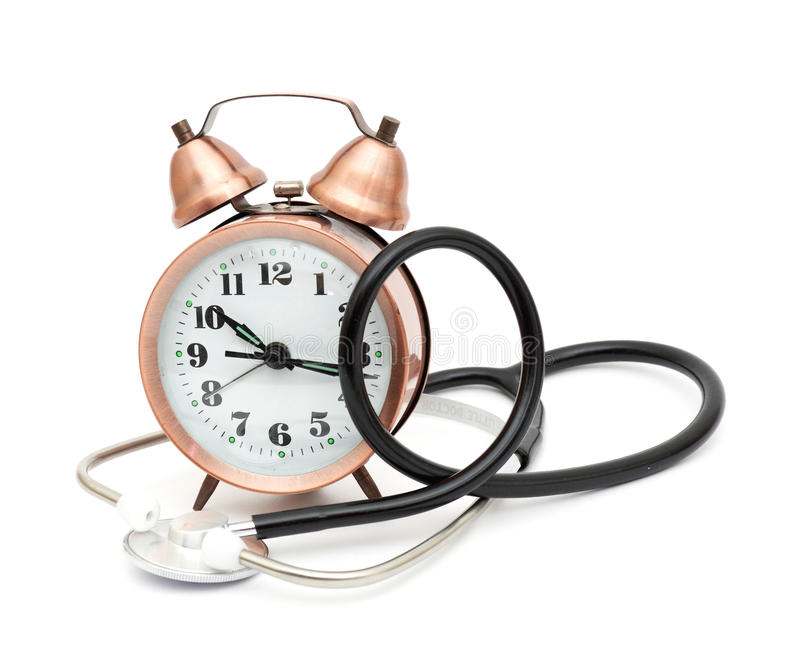 Download Stethoscope and clock stock photo. Image of health, lifestyle - 17488898