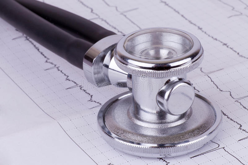 Download Stethoscope and ecg stock photo. Image of draw, emergency - 26118592