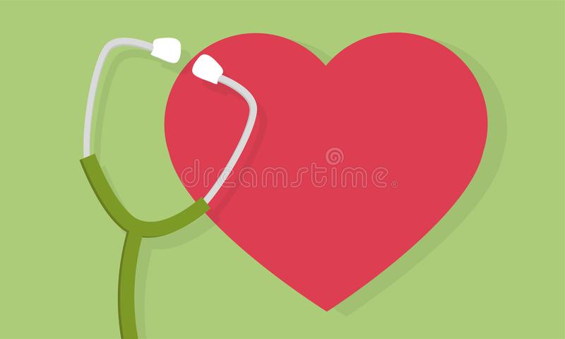 Stethoscope and heart icon or sign. Pulse care symbol. medicine design. Stethoscope and heart icon or sign. Pulse care symbol. Element for medicine design stock illustration