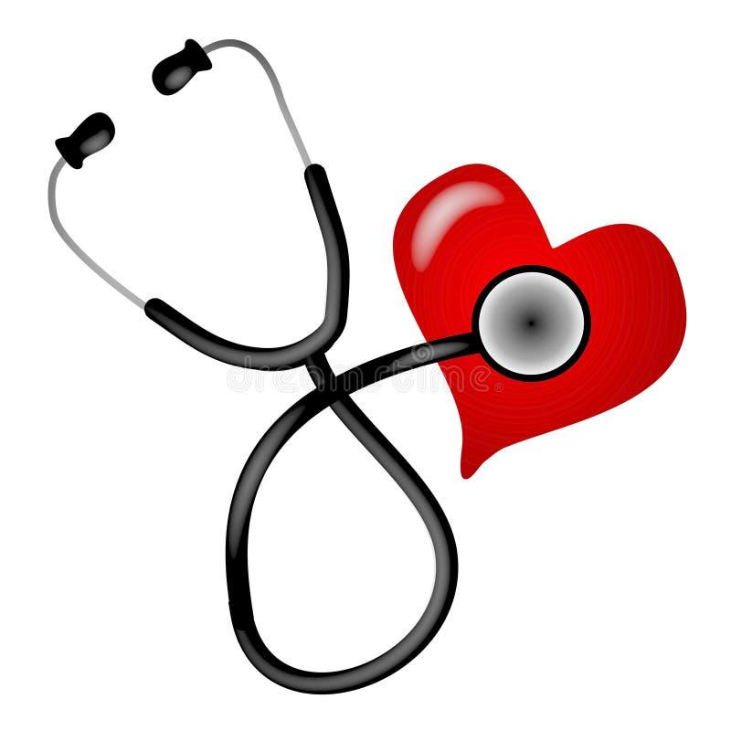 Free Stethoscope Heart Illustration Royalty Free Stock Image - 2887296