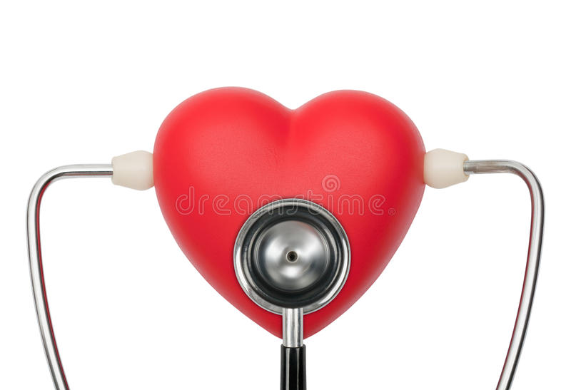 Download Stethoscope On Heart Listening Pulse Stock Photo - Image: 26787714