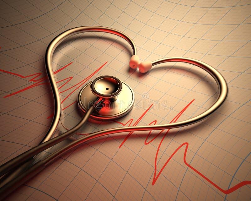 Download Stethoscope Heart Shape stock illustration. Image of medicare - 35359159