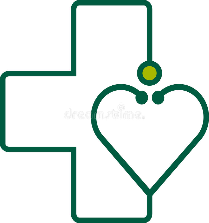 Stethoscope with heart royalty free illustration