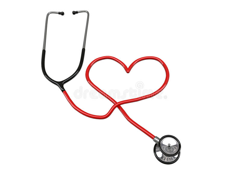 Stethoscope heart silhouette royalty free illustration