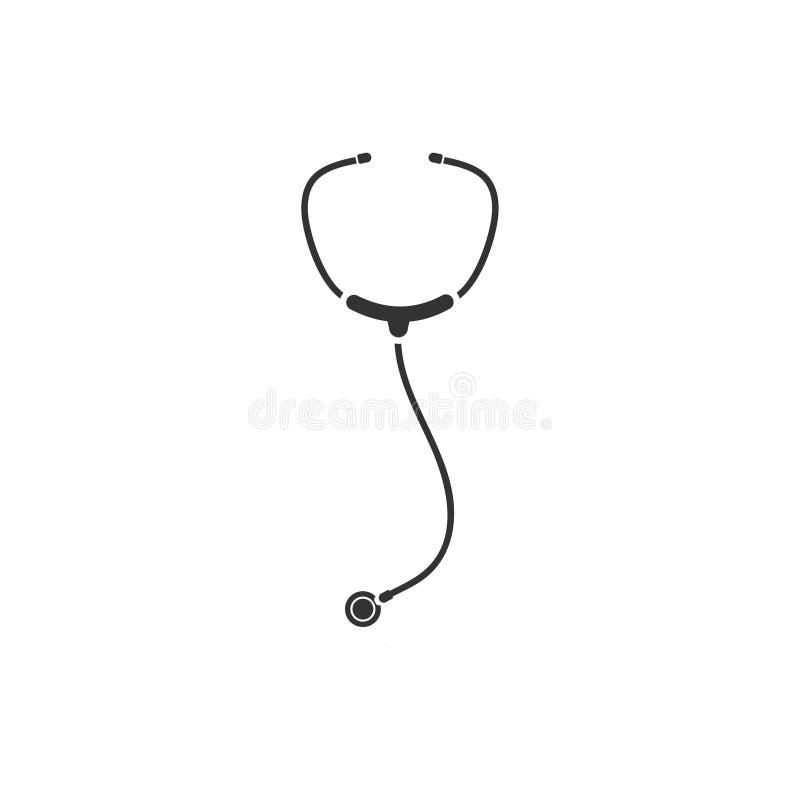 Stethoscope icon flat vector illustration