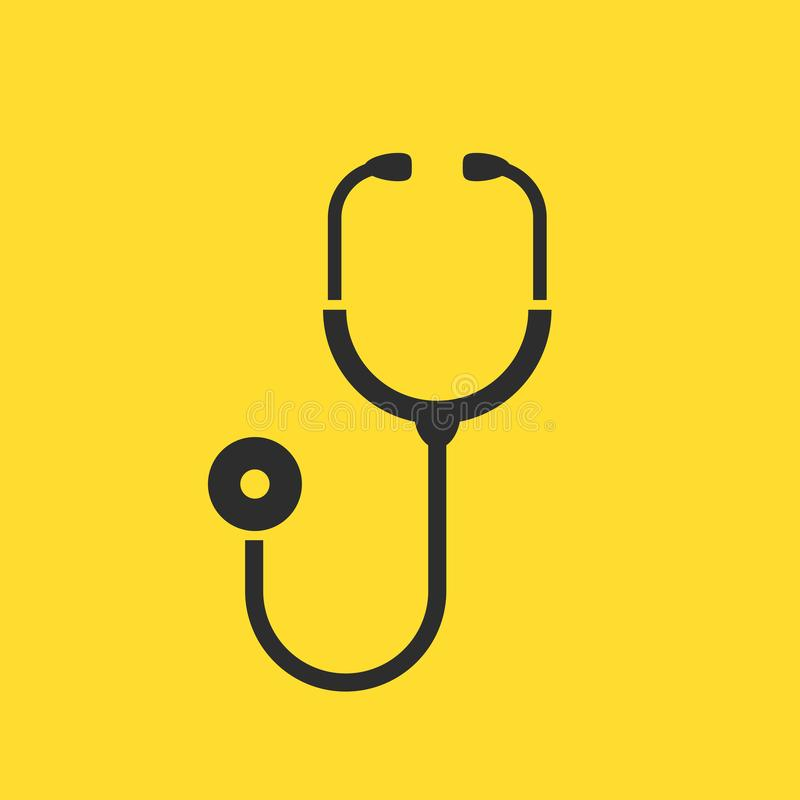 Stethoscope icon. Stethoscope medical instrument vector icon royalty free illustration