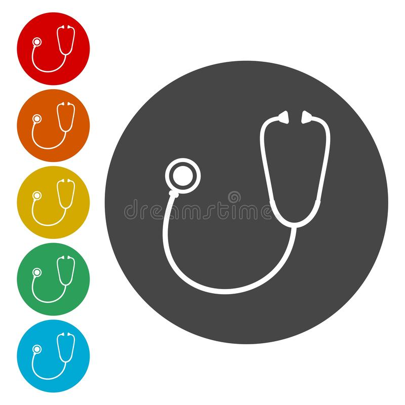 Stethoscope icon vector illustration