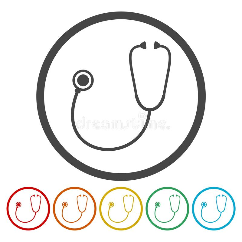 Stethoscope icon royalty free illustration