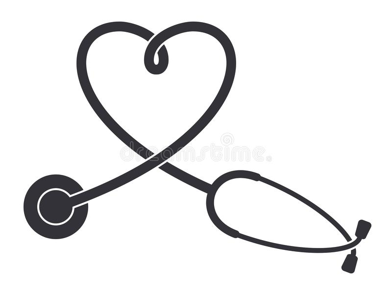 Stethoscope icon stock illustration