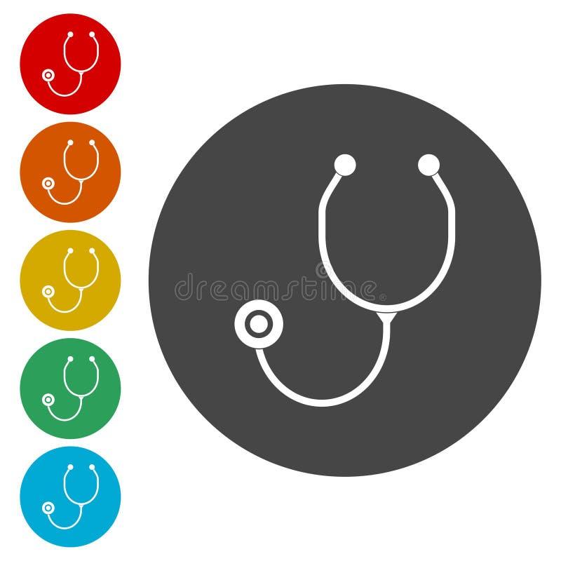 Stethoscope icons set. Vector icon vector illustration