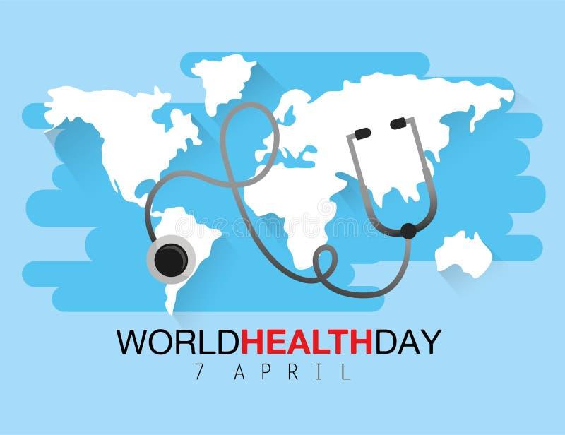 Stethoscope medicine diagnosis to health day vector illustration