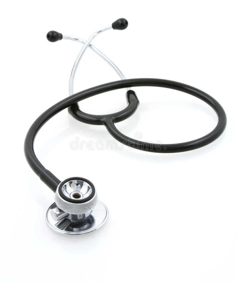 Free Stethoscope On White Royalty Free Stock Photography - 818767