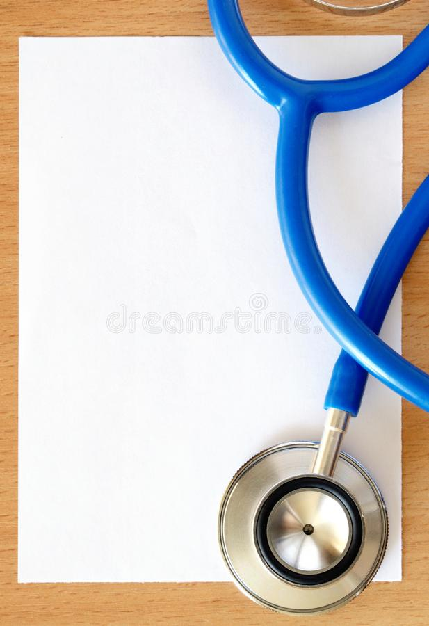 Stethoscope and paper royalty free stock photos