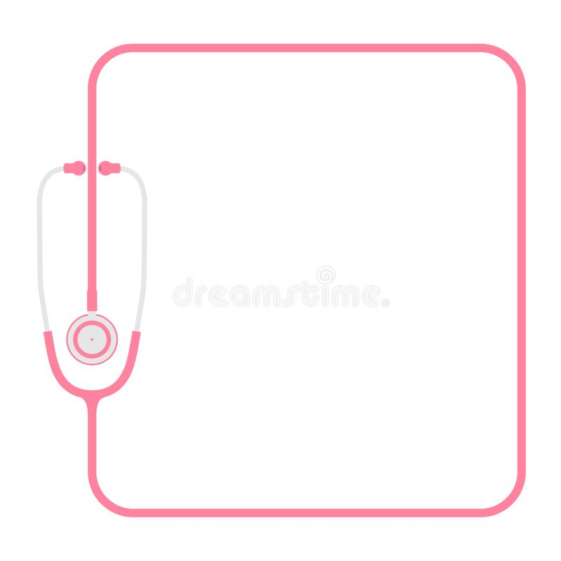 Stethoscope Pink Color And Square Shape Frame Made From Cable Flat ...