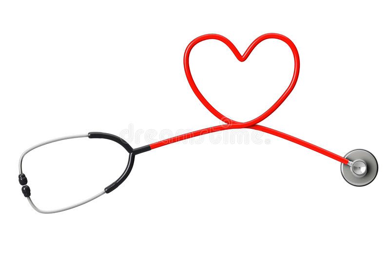 Stethoscope In Shape Of Heart royalty free stock image