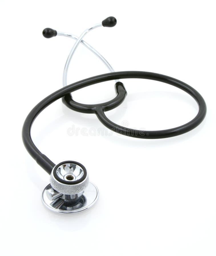 Stethoscope on white royalty free stock photography