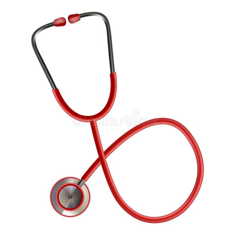 Stethoskop medizinisch, Stethoskop-Ausrüstung, Medizin-Stethoskop lokalisiert auf einem weißen Hintergrund Realistischer Vektor vektor abbildung