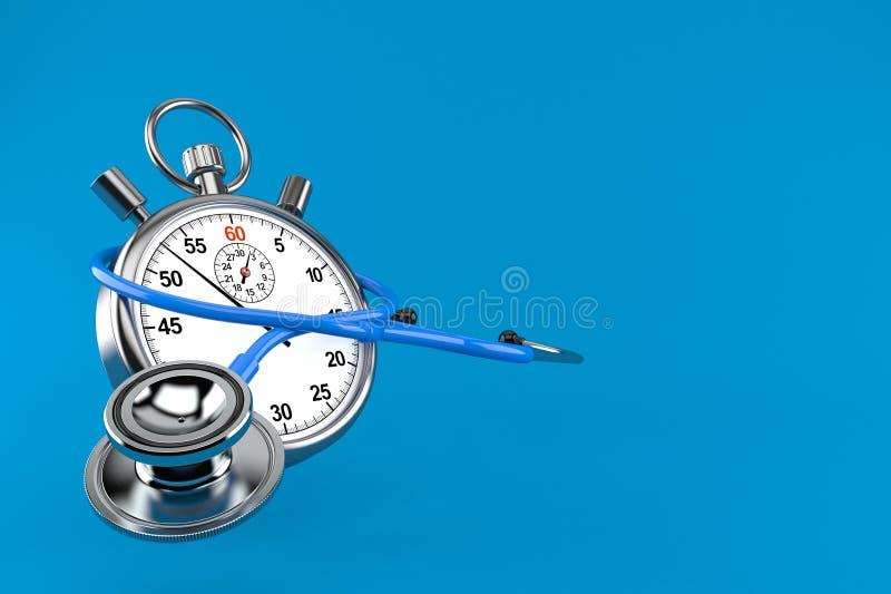 Stethoskop mit Stoppuhr lizenzfreie abbildung